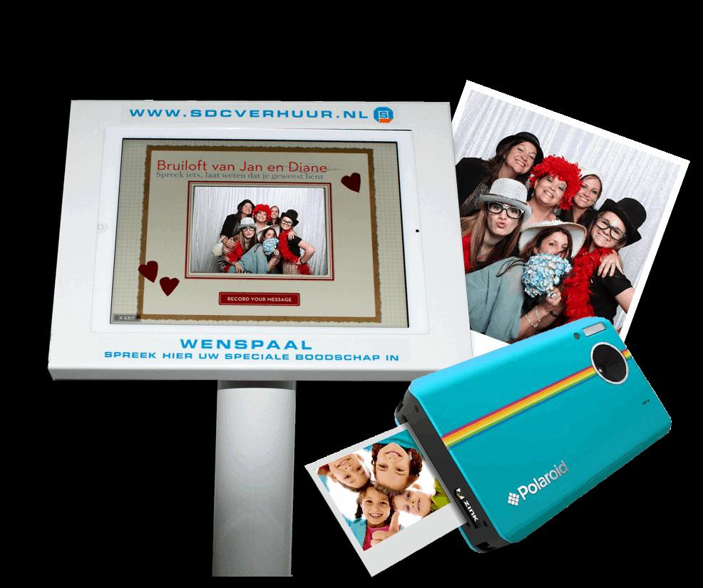 Polaroid camera of videozuil huren