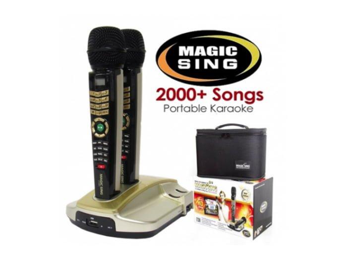 Huur Karaokeset, karaokeset huren, gratis verzending, magicsing met 2 microfoons