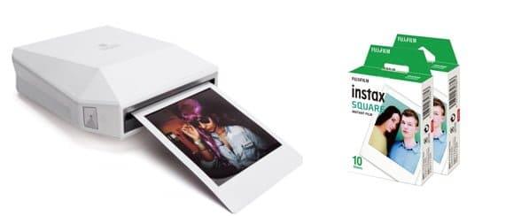 FujiFilm Instax SP3, Draadloos foto's van je mobiel of tablet afdrukken op polaroid formaat.