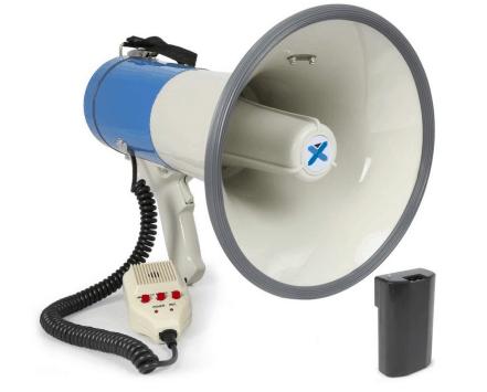 Megafoon huren - Met Sirene - Portofoon -SDC Verhuur