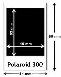 Polaroid 300 afmetingen foto - sdc-verhuur