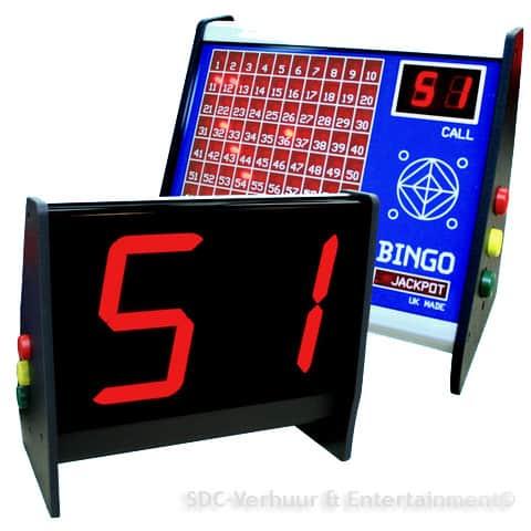 Bingomachine huren SDC-Verhuur Gratis transport, online Bingo