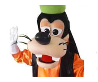 Goofy Mascotte huren