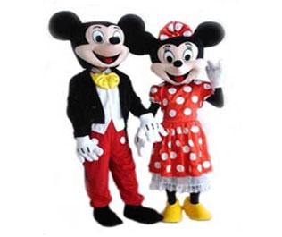 Micky Minnie Mouse mascotte kostuum huren